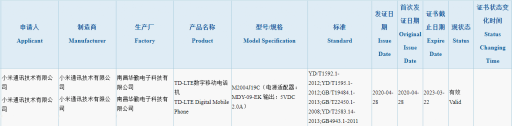 Redmi 9 Spotted in 3C