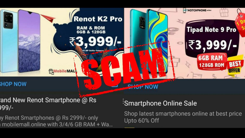 Tipad Renot Scam sold via MyNotchPhone and MobileMall