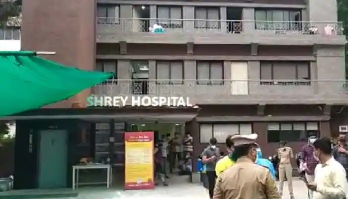 Fire breakout in Shrey Hospital Ahemdabad