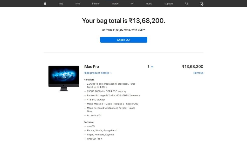 Custom iMac from Apple Store India