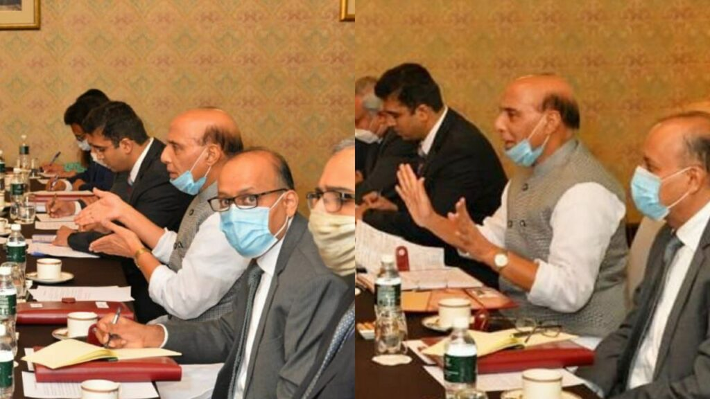 Rajnath Singh hand gestures in India China meeting