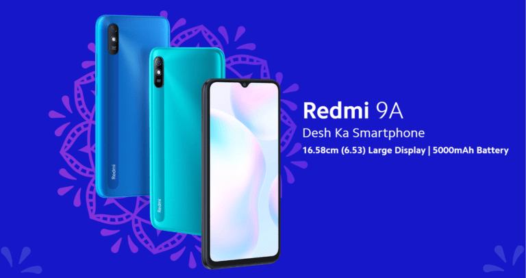 Redmi 9A with 6.53 inch Display, 5000 mAh Battery Launched in India