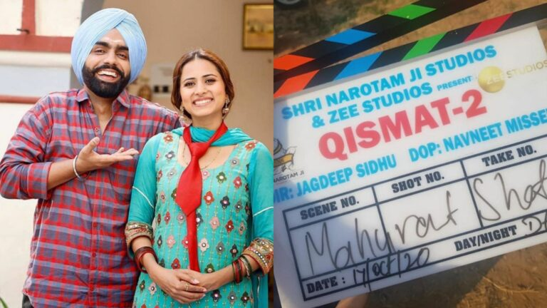 Qismat 2 shoot begins today, Ammy Virk & Sargun Mehta to star again in the sequel