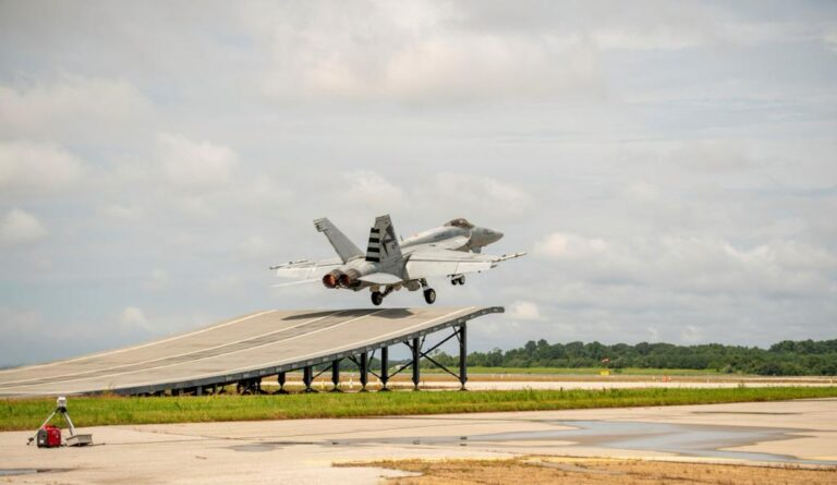 Boeing F/A-18 Super Hornet demonstrated ski jump capability for Indian Navy carriers