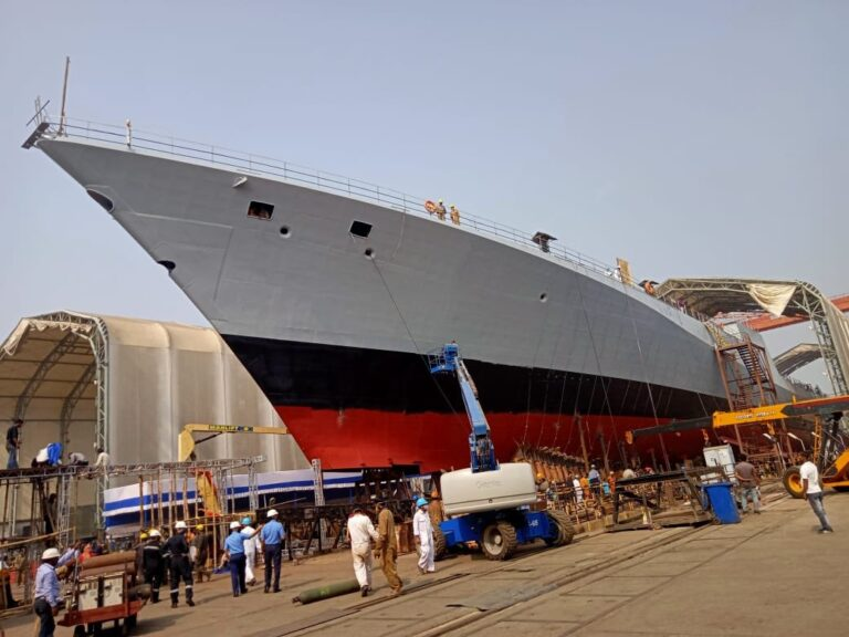 INS Himgiri: GRSE launches Indian Navy second stealth frigate under P17A