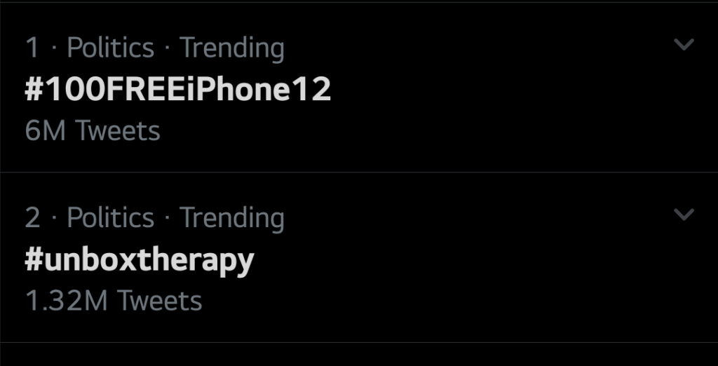 Unbox Therapy 6 million tweets