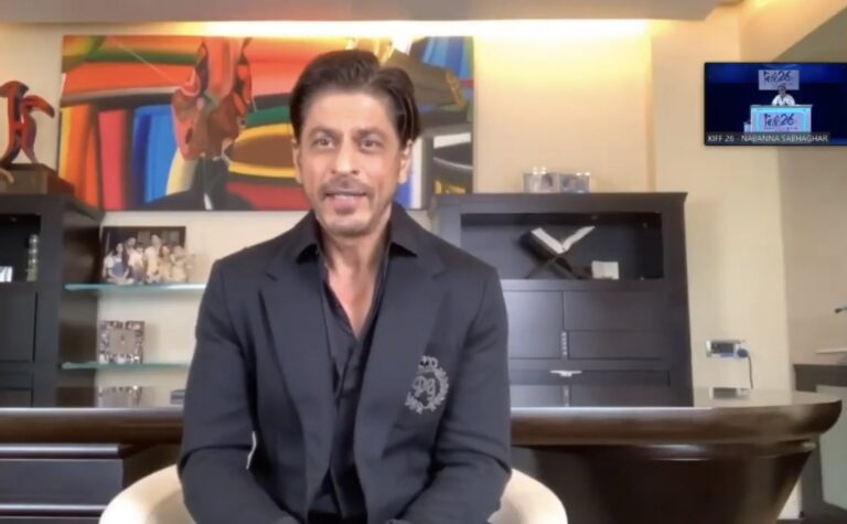 """SRK in KIFF 2021 """"We actors are good at giving social message, it's time to do Social Work"""""""